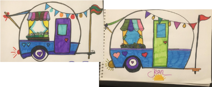 RV Coloring project with family