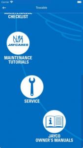 Jayco Wingmate app - maintenance page